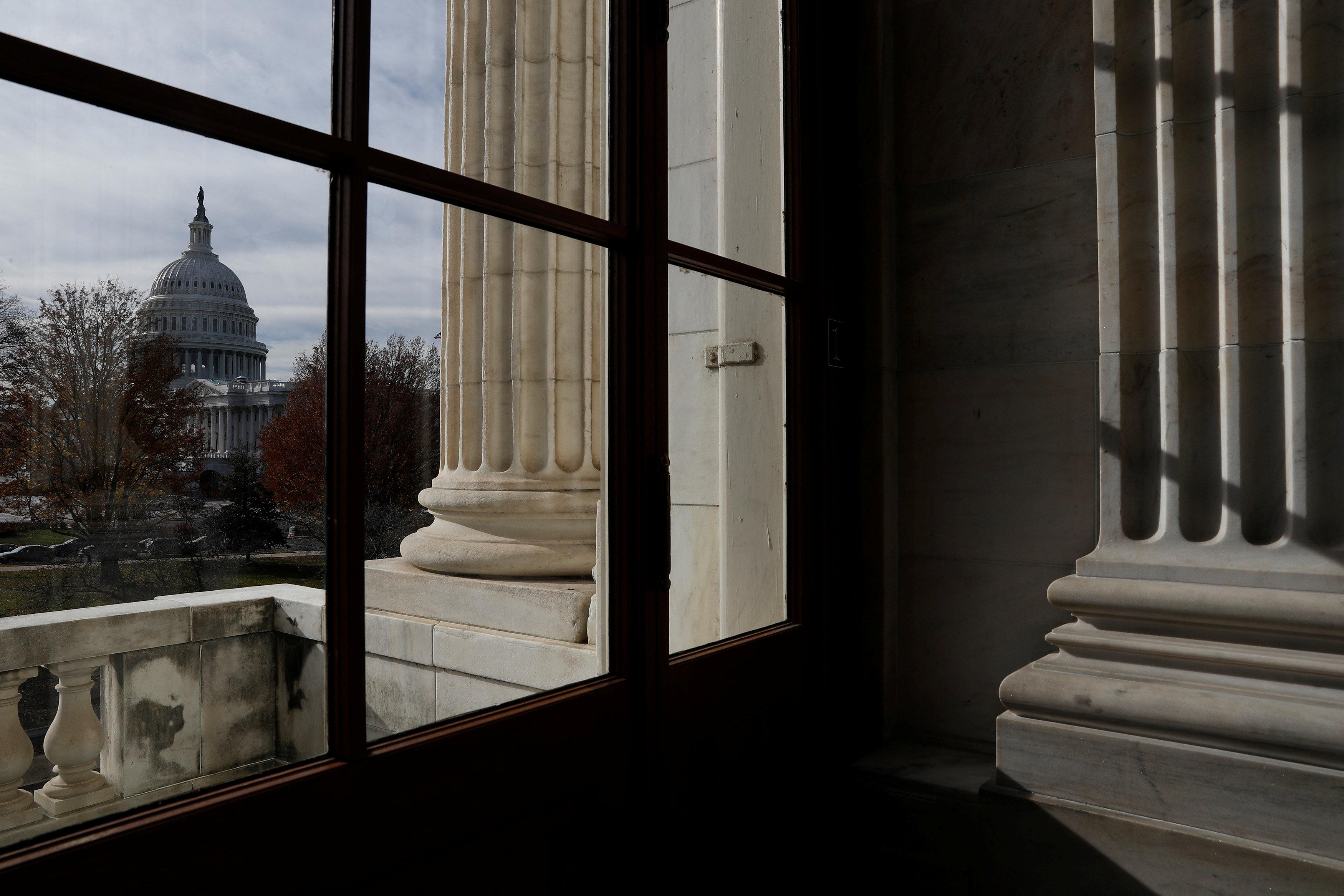 The Capitol Building is seen from Russell Senate Office Building in Washington, U.S., December 6, 2017. Aaron P. Bernstein