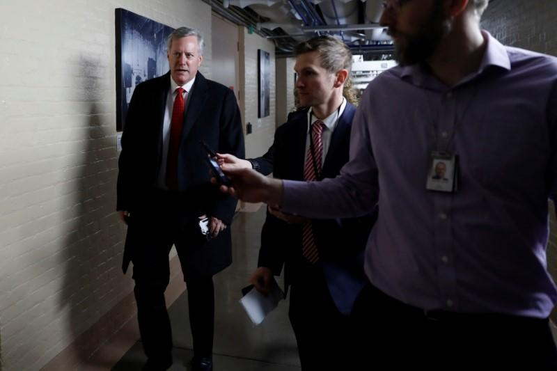 Mark Meadows, Rep. and Chairman of the House Freedom Caucus, arrives for a closed Republican conference meeting on Capitol Hill in Washington, U.S., December 5, 2017. Aaron P. Bernstein