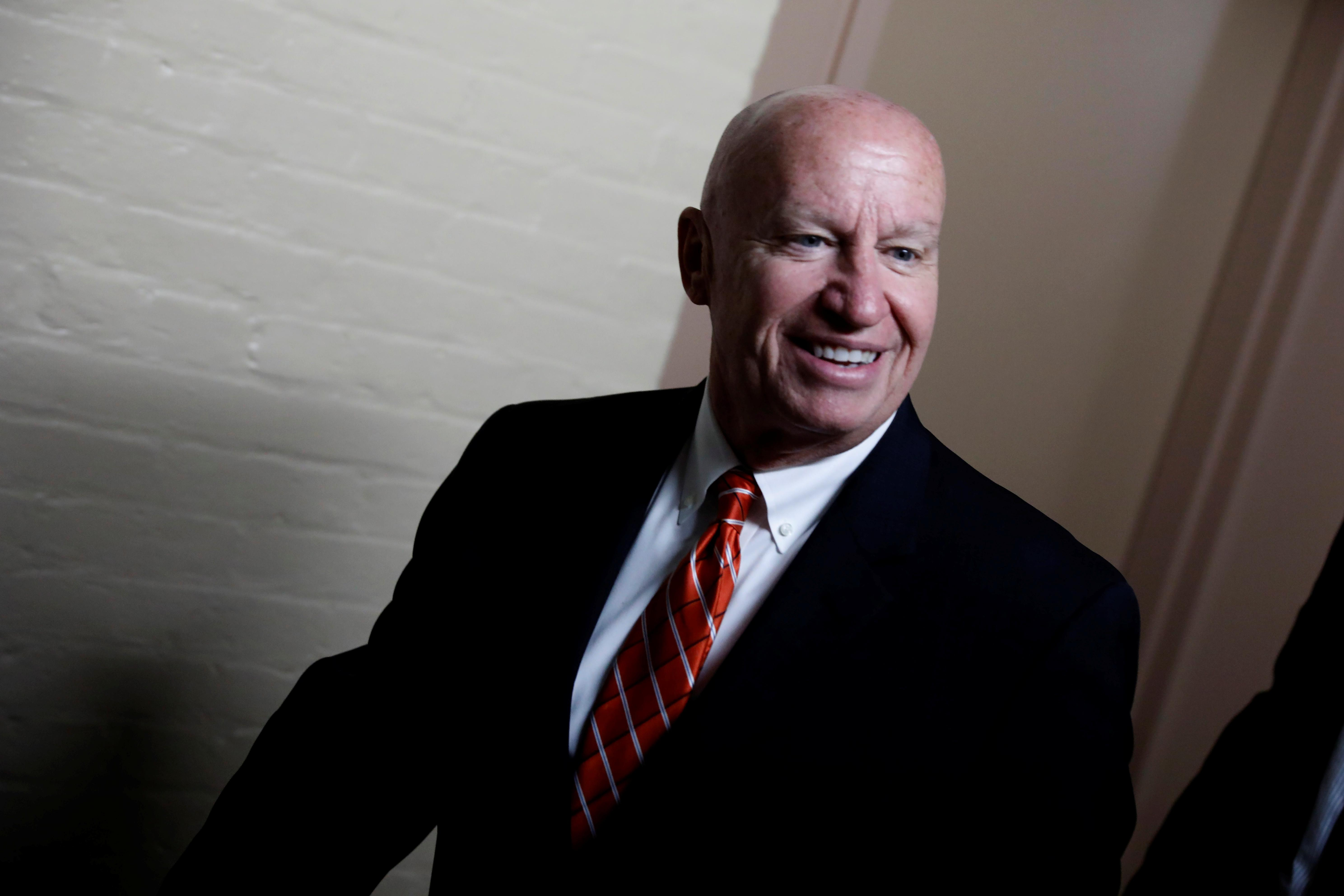 Rep. Kevin Brady (R-TX), Chairman of the House Ways and Means Committee, arrives for a Republican conference meeting at the U.S. Capitol in Washington, U.S., December 20, 2017. Aaron P. Bernstein
