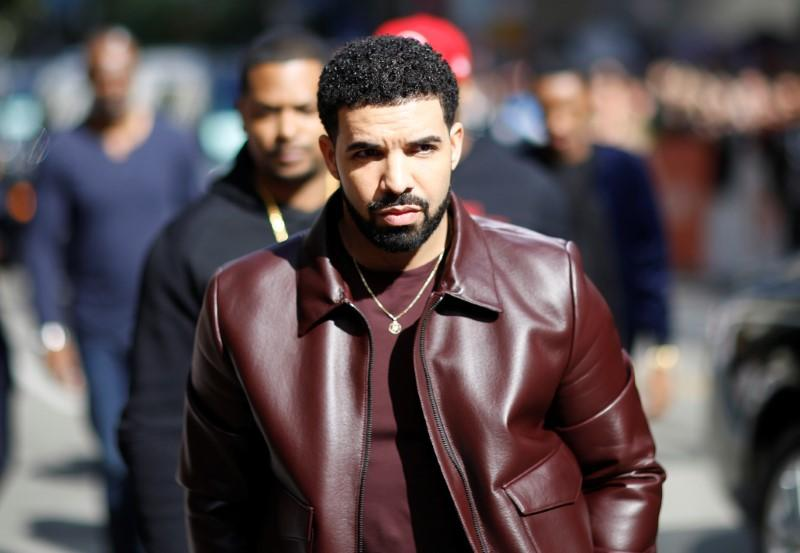 Rapper Drake arrives on the red carpet for the film