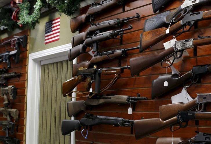 Firearms are shown for sale at the AO Sword gun store in El Cajon, California, January 5, 2016. Mike Blake