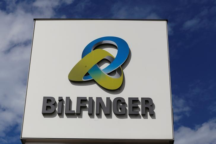 A logo of Bilfinger SE is seen at their headquarters in Mannheim, Germany, June 11, 2017.   Ralph Orlowski