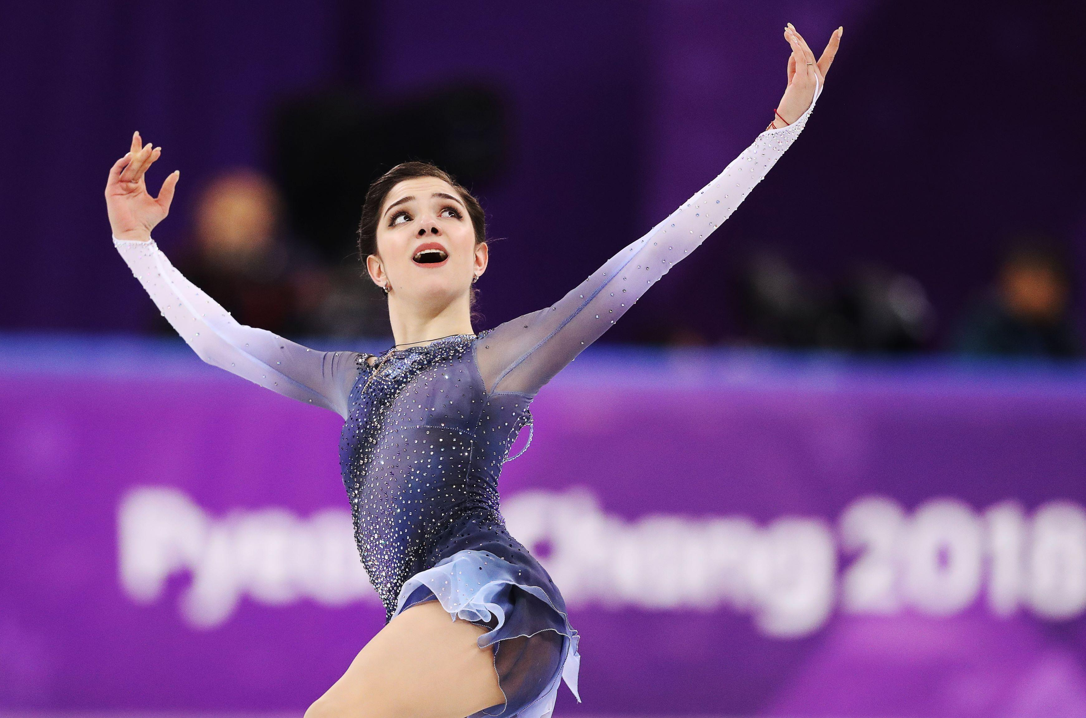 Figure Skating - Pyeongchang 2018 Winter Olympics - Ladies Single Skating Short Program - Gangneung, South Korea - February 21, 2018 - Evgenia Medvedeva, an Olympic Athlete from Russia, performs. Lucy Nicholson