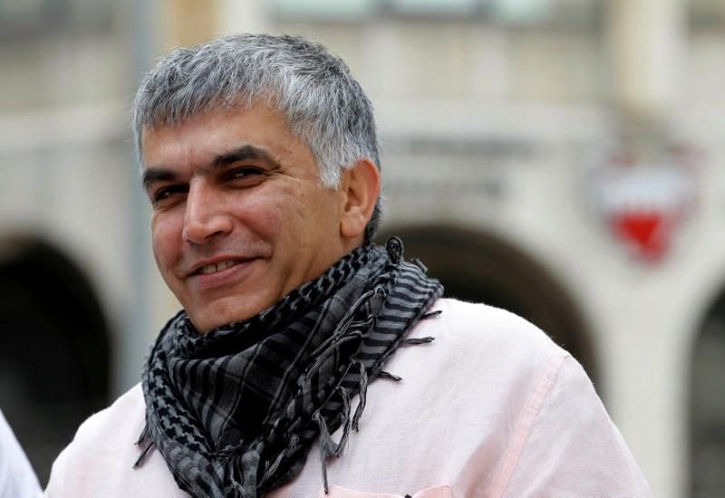 Bahraini human rights activist Nabeel Rajab arrives for his appeal hearing at court in Manama, February 11, 2015. Hamad Mohammed