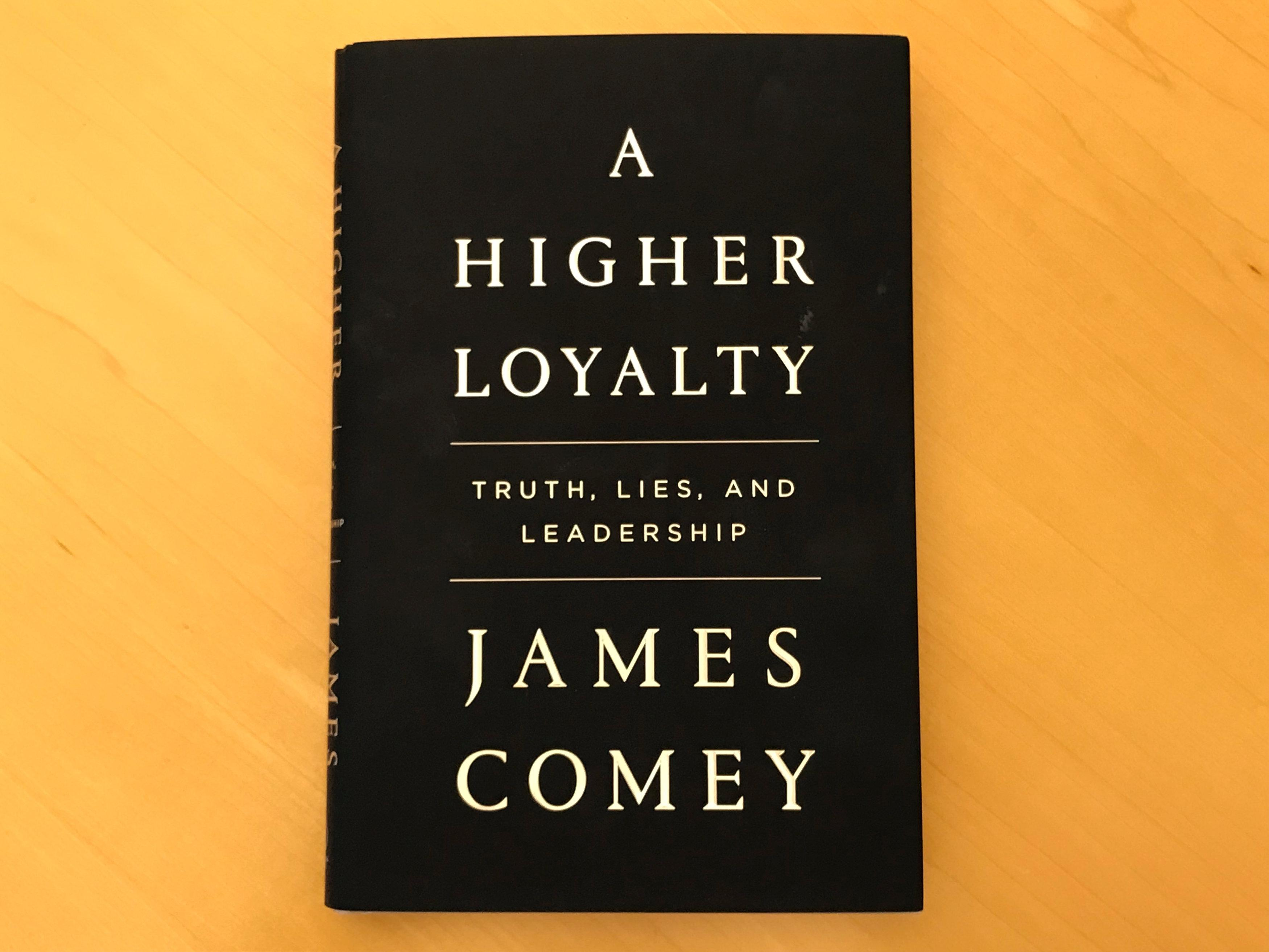 A copy of former FBI director James Comey's book