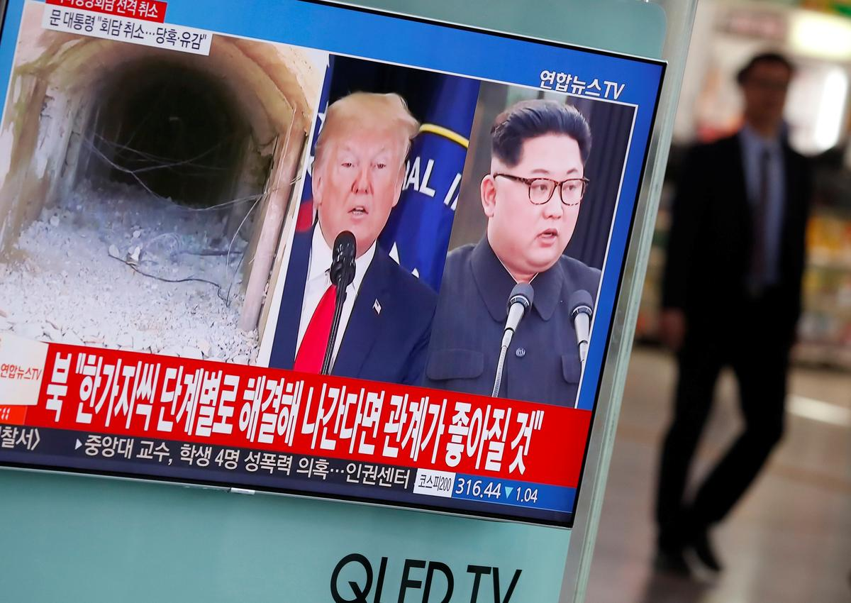 U.S. President Donald Trump said on Sunday a U.S. team had arrived in North Korea to prepare for a proposed summit between him and North Korean leader Kim Jong Un, which Trump pulled out of last week before reconsidering.