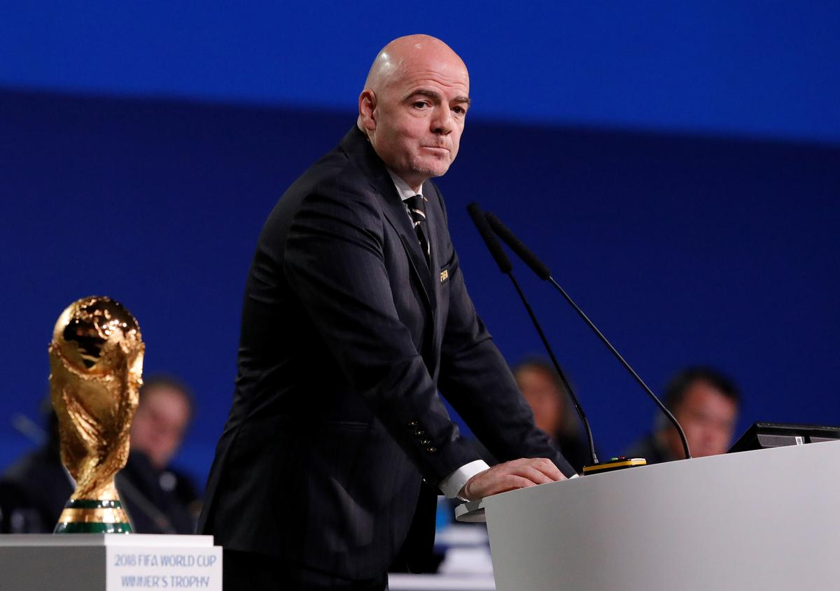 Soccer: FIFA President Infantino to run for re-election in 2019