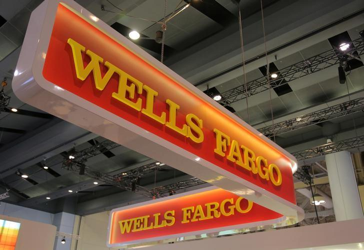 A Wells Fargo logo is seen at the SIBOS banking and financial conference in Toronto, Ontario, Canada October 19, 2017. Picture taken October 19, 2017. Chris Helgren