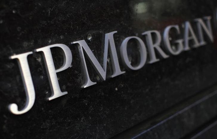 A sign outside the headquarters of JP Morgan Chase & Co in New York, September 19, 2013. Mike Segar
