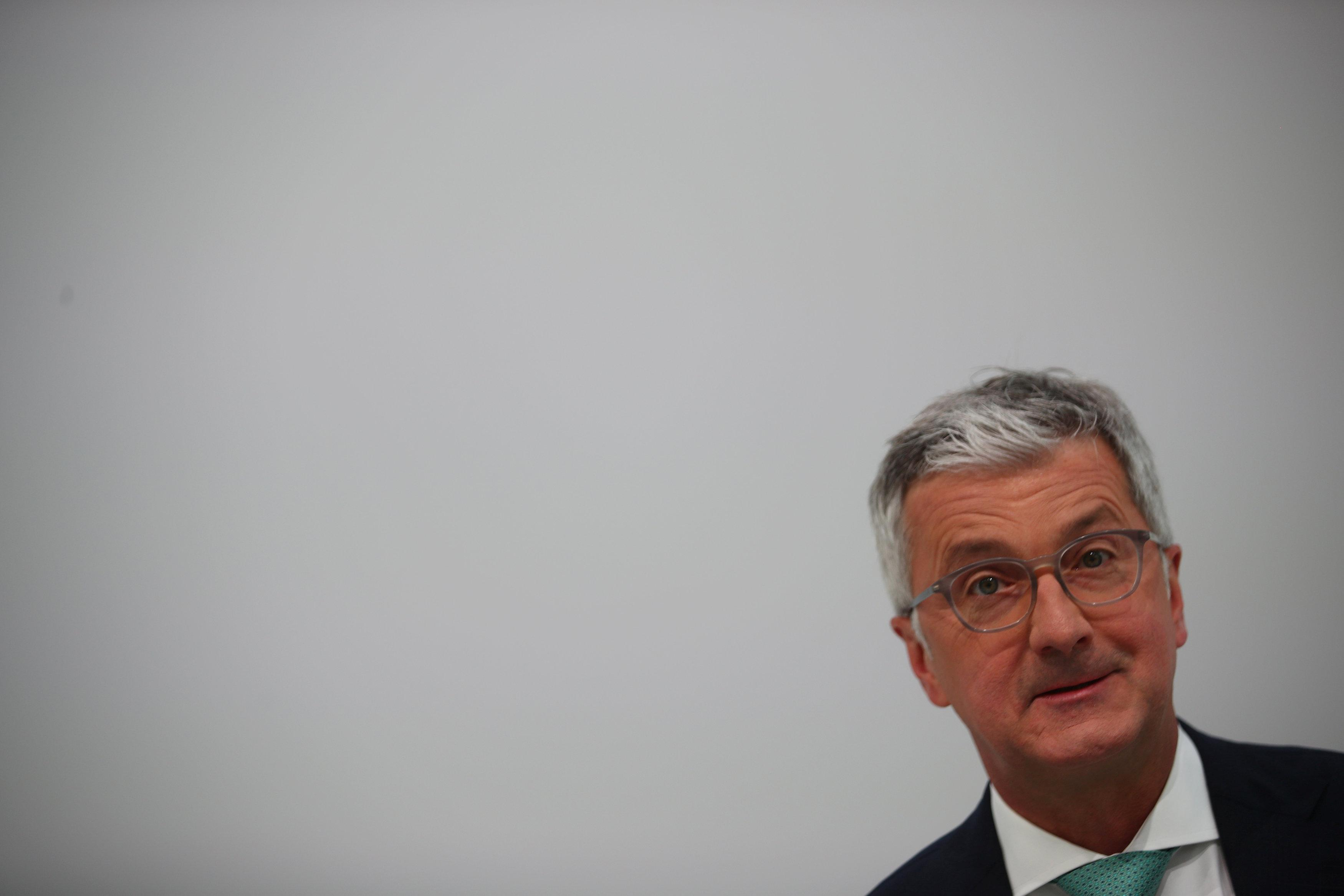 Audi CEO Rupert Stadler arrives to the company
