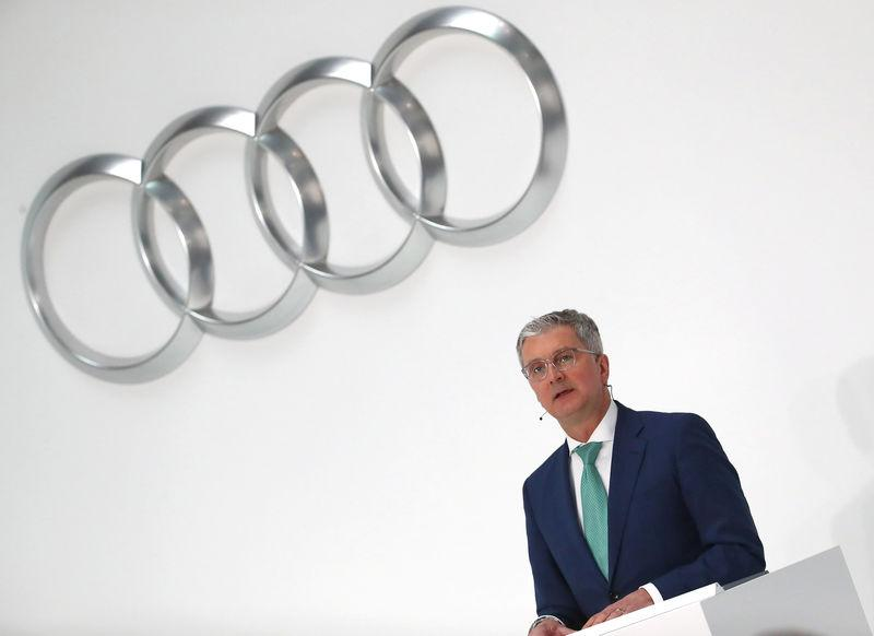 Audi CEO Rupert Stadler speaks during the company's annual news conference in Ingolstadt, Germany March 15, 2018. Michael Dalder