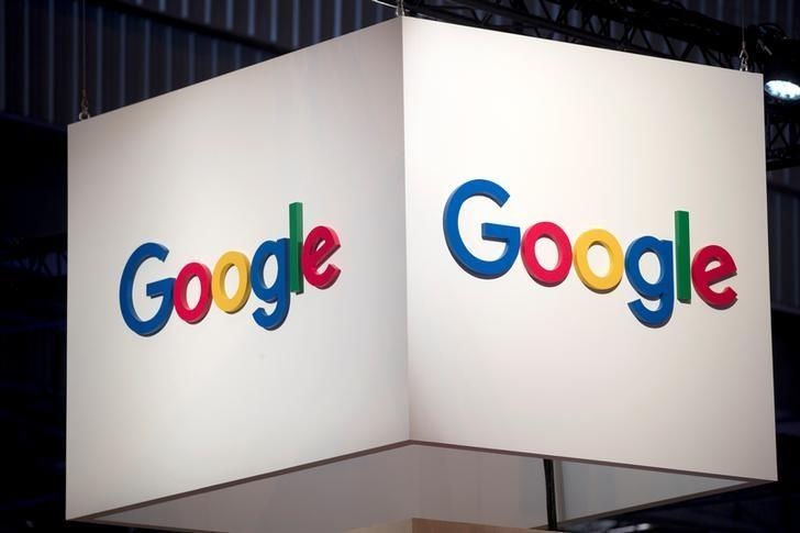 The logo of Google is pictured during the Viva Tech start-up and technology summit in Paris, France, May 25, 2018. Charles Platiau
