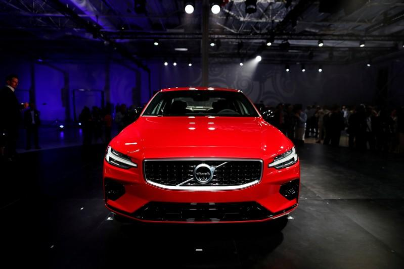 A Volvo S60 is displayed during the inauguration of Volvo Cars first U.S. production plant in Ridgeville, South Carolina, U.S., June 20, 2018.  Randall Hill