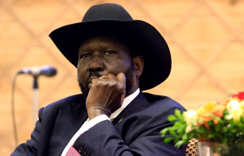 South Sudan President Salva Kiir attends the signing of a peace agreement with the South Sudan rebels aimed to end a war in which tens of thousands of people have been killed, in Khartoum, Sudan June 27, 2018. Mohamed Nureldin Abdallah