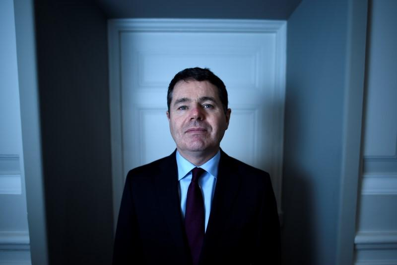 Ireland's Minister for Finance Paschal Donohoe poses for a photograph after an interview with Reuters at the Ministry of Finance in Dublin, Ireland, February 5, 2018. Clodagh Kilcoyne