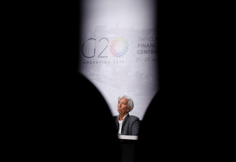 International Monetary Fund (IMF) Managing Director Christine Lagarde attends a news conference in Buenos Aires, Argentina, July 21, 2018. Martin Acosta
