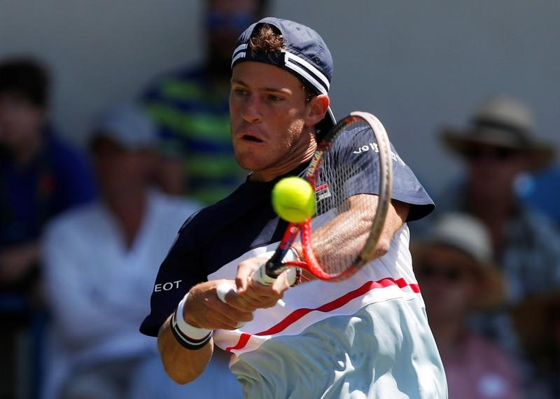 Tennis - WTA Premier & ATP 250 - Nature Valley International - Devonshire Park, Eastbourne, Britain - June 27, 2018   Argentina's Diego Schwartzman in action during his second round match against Slovakia's Lukas Lacko   Action Images via Reuters/Paul Childs