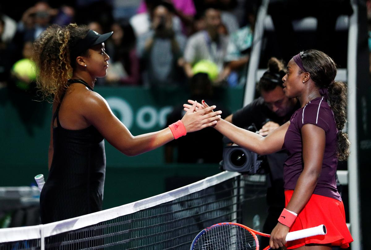 Stephens benefits from positive attitude in WTA Finals debut