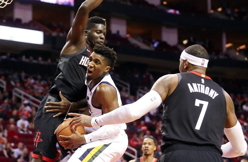 NBA roundup: Jazz down Rockets after Harden exits