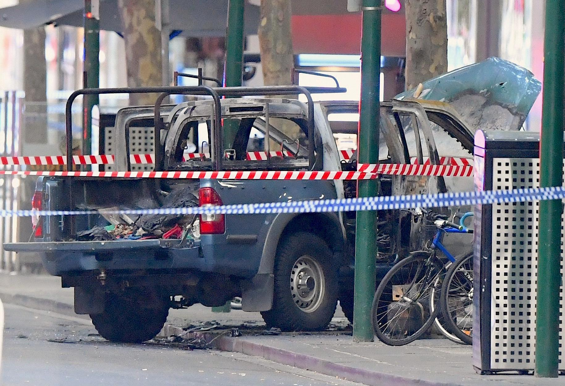 Melbourne stabber drove car loaded with gas cylinders: police