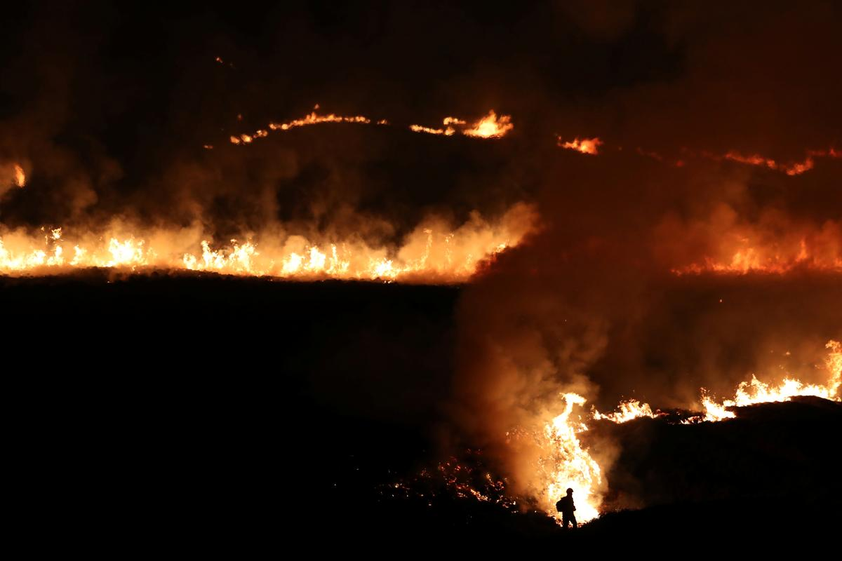 Huge fire breaks out in Greater Manchester: Sky News