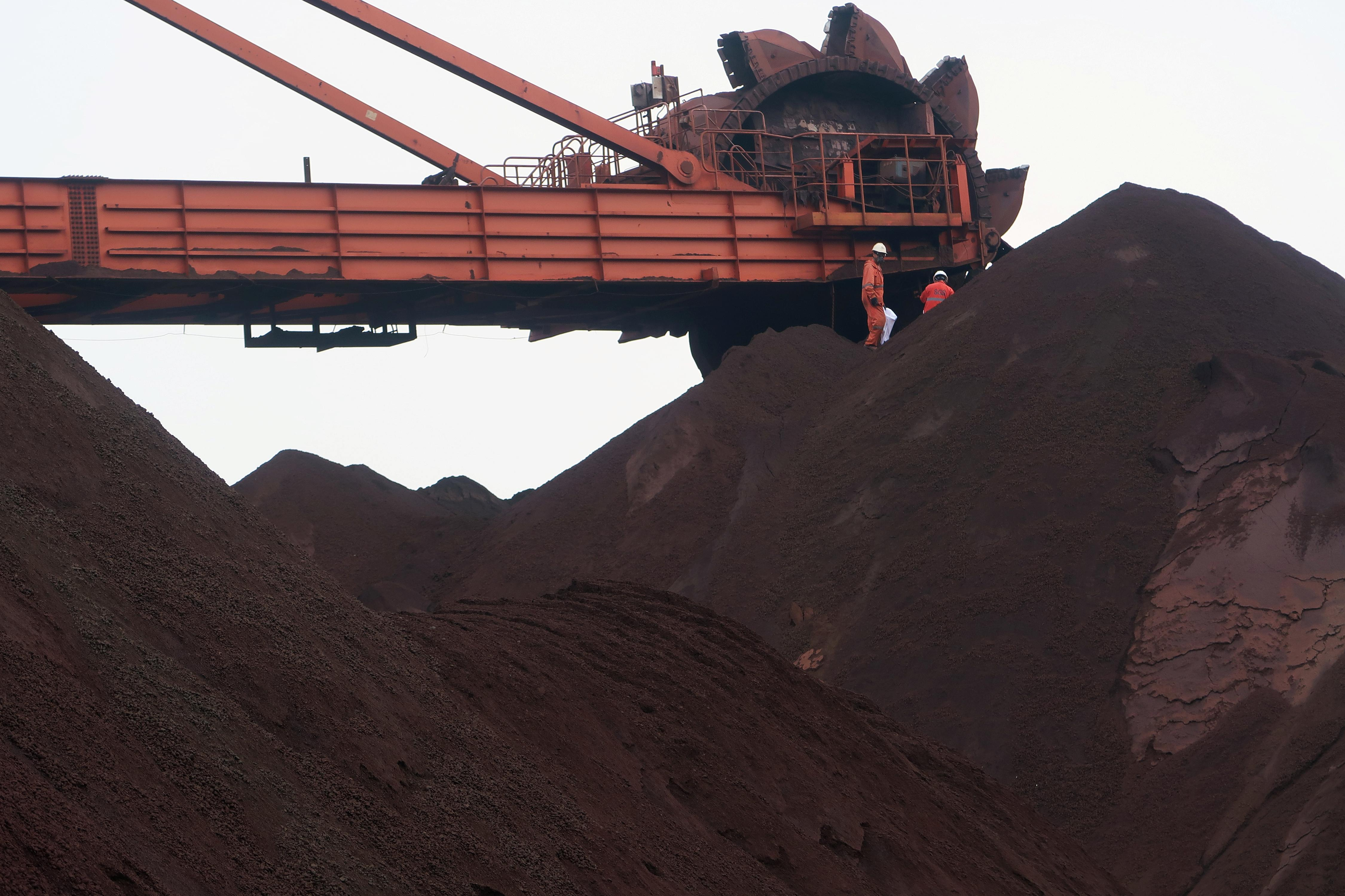 China's iron ore imports rise in March as steel output curbs ease