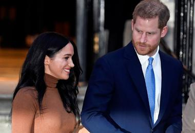 FILE PHOTO: Britain's Prince Harry and his wife Meghan, Duchess of Sussex,...