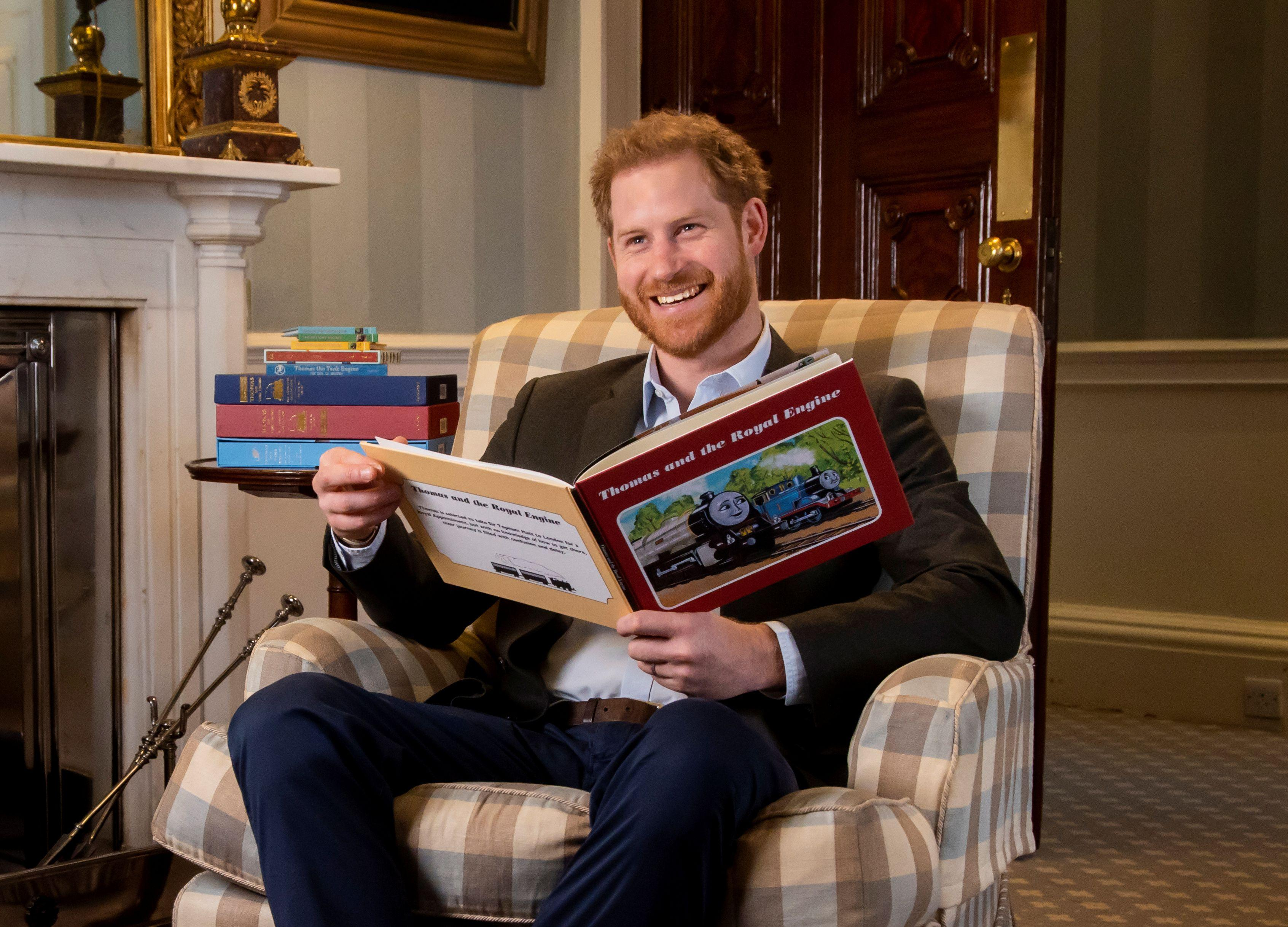 Prince Harry helps mark 75th anniversary of Thomas the Tank Engine
