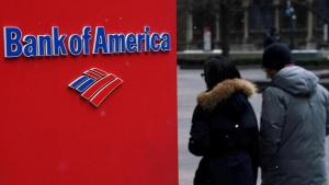 FILE PHOTO: A Bank of America logo is pictured in the Manhattan borough of New York City, New York, U.S., January 30, 2019. REUTERS/Carlo Allegri/File Photo