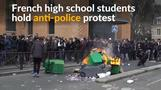 Paris high school students protest against police violence