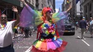 New York celebrates LGBT pride in historic birthplace of march