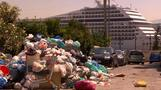 Mountains of garbage pile up on Greek streets as strikes continue