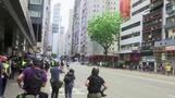 香港、続く「国家安全法」抗議デモ(字幕・26日)