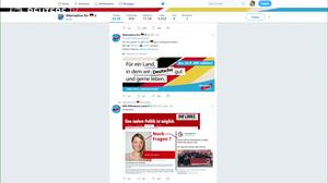 German far-right floods Twitter pre-election