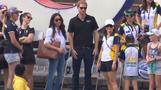 Prince Harry and girlfriend Meghan arrive for Invictus games