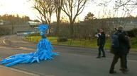 Biodegradable dress shows support for climate pact