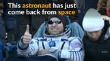 Three-man astronauts crew returns to Earth after space mission