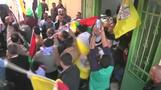 People participate in funerals for Palestinians killed in clashes