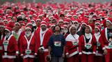 INSIGHT: Santas suit up for charity race in Mexico