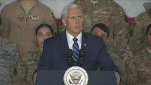 Pence to troops: No immigration talks until government reopens