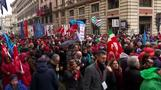 Thousands march against racism and fascism in Rome