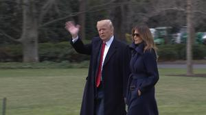 Trump mum on Mueller, Melania stumbles