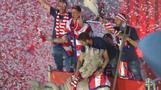 Atletico Madrid celebrates Europa League title at Neptuno Square