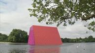 Christo's first UK major artwork floats on London lake