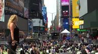 Yoga summer solstice celebration in Times Square