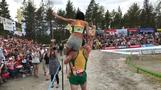 Lithuanian couple win world wife-carrying championship title in Finland
