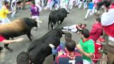 No gorings at 6th Pamplona bull run