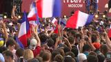 Moscow fan zone erupts as France wins World Cup