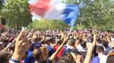 Crowds of excited French fans gather in Paris for World Cup final