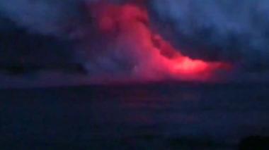 米ハワイ島の遊覧船に「溶岩爆弾」直撃、乗客23人負傷(字幕・17日)